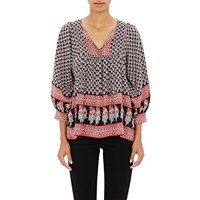 Ulla Johnson Bea Tunic Blouse Dark Indian Floral