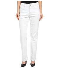 Nydj Petite Petite Marilyn Straight In Optic White Optic White Women's Jeans