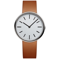 Uniform Wares M37 Wristwatch Polished Steel And Tan Leather