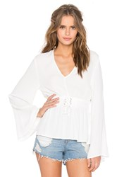 Minkpink Hanging On Blouse White