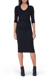 Michael Stars Women's Side Ruched Midi Dress