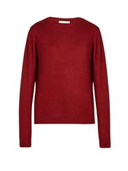 Raey Crew Neck Fine Knit Cashmere Sweater Red