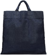 Sunnei Navy Denim Shopping Tote