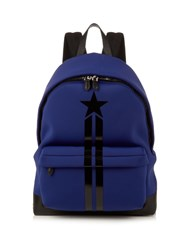 Givenchy Star And Stripe Neoprene Backpack Blue