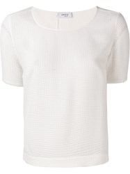 Akris Semi Sheer Woven T Shirt White