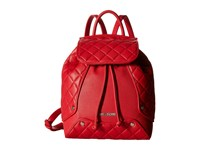 Love Moschino Classic Quilted Backpack Red Backpack Bags