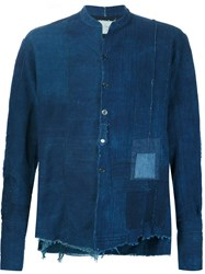 Greg Lauren 'Antique Indigo Studio' Shirt Blue