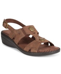 Easy Street Shoes Easy Street Joyce Slingback Wedge Sandals Women's Shoes