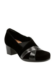 Clarks Suede Pump Shoes Black