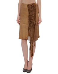 Collection Privee Collection Privee Leather Skirts Camel