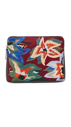 Lizzie Fortunato Safari Clutch Dancing Flowers