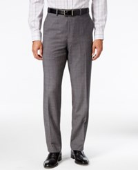 Sean John Men's Classic Fit Gray Glen Plaid Pants