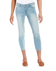 Guess Cropped Skinny Jeans Light Wash