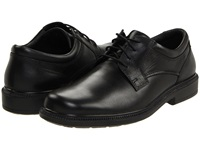 Hush Puppies Strategy Black Leather Men's Lace Up Casual Shoes