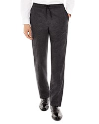Sandro Alpha Wool Drawstring Slim Fit Trousers Anthracite