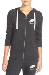 Women's Nike 'Gym Vintage' Front Zip Hoodie Black Sail