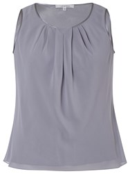 Chesca Satin Trim Chiffon Camisole Silver Grey