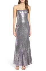 Lulus Women's Strapless Sequin Mermaid Gown Shiny Lilac