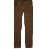 Tod's Slim Fit Denim Jeans Brown