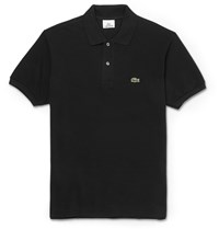 Lacoste Cotton Piqua Polo Shirt Black
