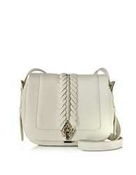 Roberto Cavalli Serpent Smooth Leather Small Flap Shoulder Bag