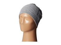 Plush Fleece Lined Cable Knit Beanie Heather Grey Beanies Gray