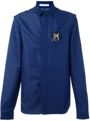 J.W.Anderson J.W. Anderson Safety Pin Patch Shirt Blue