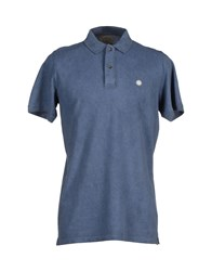 Rossopuro Topwear Polo Shirts Men Slate Blue