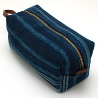 General Knot And Co. 1940S West African Indigo Tonal Stripe Travel Kit
