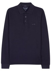 Armani Jeans Navy Pique Cotton Polo Shirt