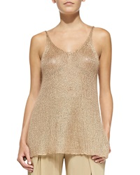 Donna Karan Easy Sleeveless Crocheted Tunic Medium