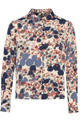W118 By Walter Baker Layla Printed Cady Shirt Blue