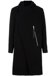 Odeur Zip Up Hooded Coat Black