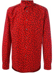 Paul Smith Ps By Heart Print Shirt Red