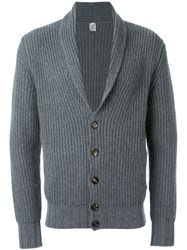 Eleventy Shawl Collar Cardigan Grey