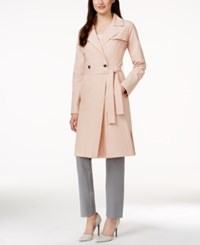 Ivanka Trump Two Button Wrap Trench Coat Blush