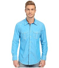 Rock And Roll Cowboy Long Sleeve Snap B2s6286 Turquoise Men's Long Sleeve Button Up Blue