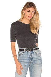 Frame Denim Le Classic Rib Top Charcoal