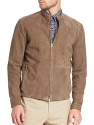 Theory Two Way Zip Front Suede Jacket Foundation