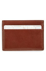 Men's Boconi Crocodile Card Case Brown Tan