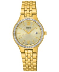 Seiko Women's Special Value Gold Tone Stainless Steel Bracelet Watch 27Mm Sur756