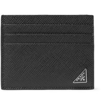 Prada Pebble Grain Leather Cardholder Black