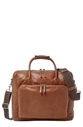 Men's Fossil 'Carson' Briefcase Metallic Cognac