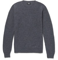 Donegal Wool Sweater Gray