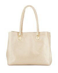 Cole Haan Benson Large Leather Tote Bag Soft Gold