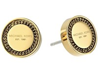 Michael Kors Logo Stud Chain Earrings Gold Earring