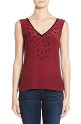Women's Plenty By Tracy Reese Embellished Double V Neck Tank