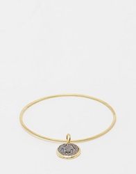 Sam Ubhi Bangle With Hamsa Hand Charm Silverbrass
