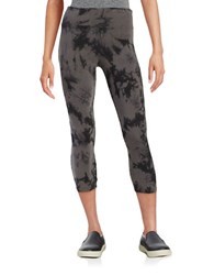 Calvin Klein Tie Dyed Leggings Charcoal