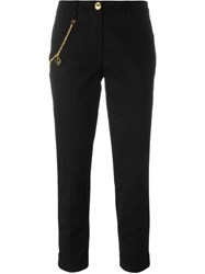 Love Moschino Chain Detail Cropped Trousers Black